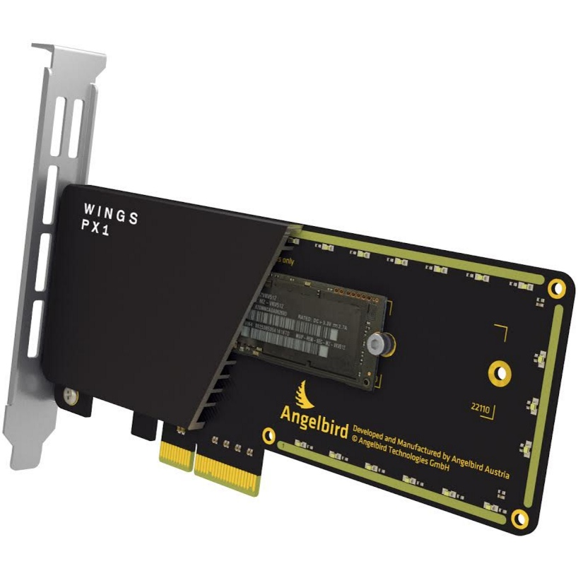 ANGELBIRD Wings PX1 M.2 PCIe x4 adapter+SAMSUNG SM951 512 GB SSD AHCI