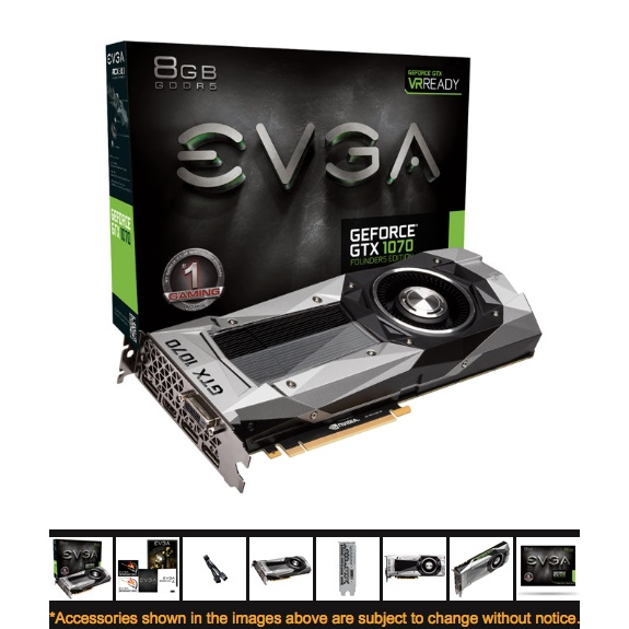 NVIDIA GTX 1070 8GB - Founders Edition - Pascal - Mac - NIEUW