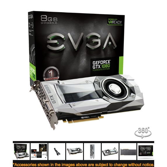 NVIDIA GTX 1080 8GB - Founders Edition - Pascal - Mac - NIEUW