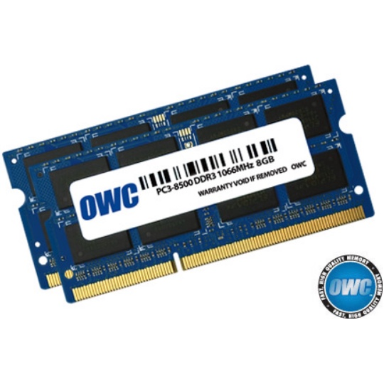 Geheugen OWC PC3-8500S DDR3 1066MHz SO-DIMM 16GB/2x8GB - voor Mac