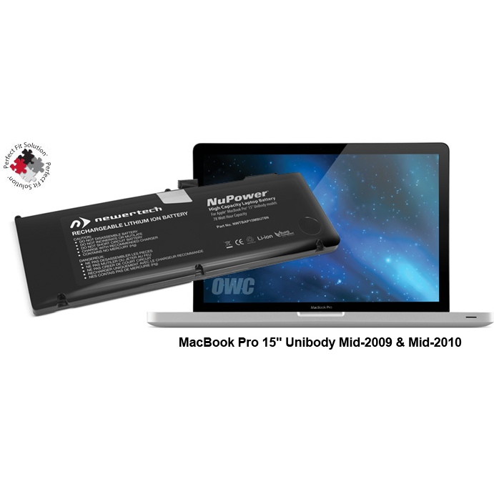 "Accu 85W voor MacBook Pro 15"" Unibody medio 2009-medio 2010-NewerTech"