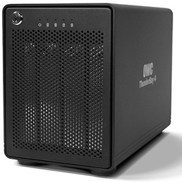OWC Thunderbay 4 Thunderbolt 2 4-Bay SATA desktop SoftRAID 5-0GB behuizing
