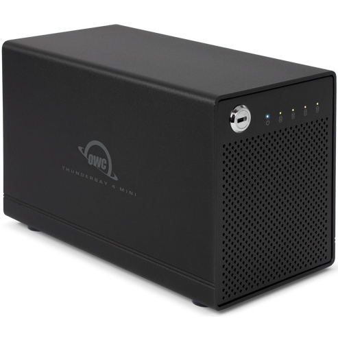 OWC Thunderbay 4 mini, vier-bay schijf behuizing Thunderbolt 2 en SoftRAID5