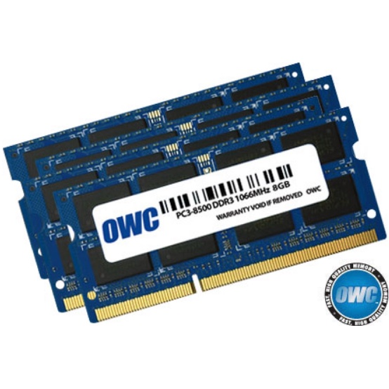 Geheugen OWC PC3-8500S DDR3 1066MHz SO-DIMM 32GB/4x8GB - voor iMac11,1 2009