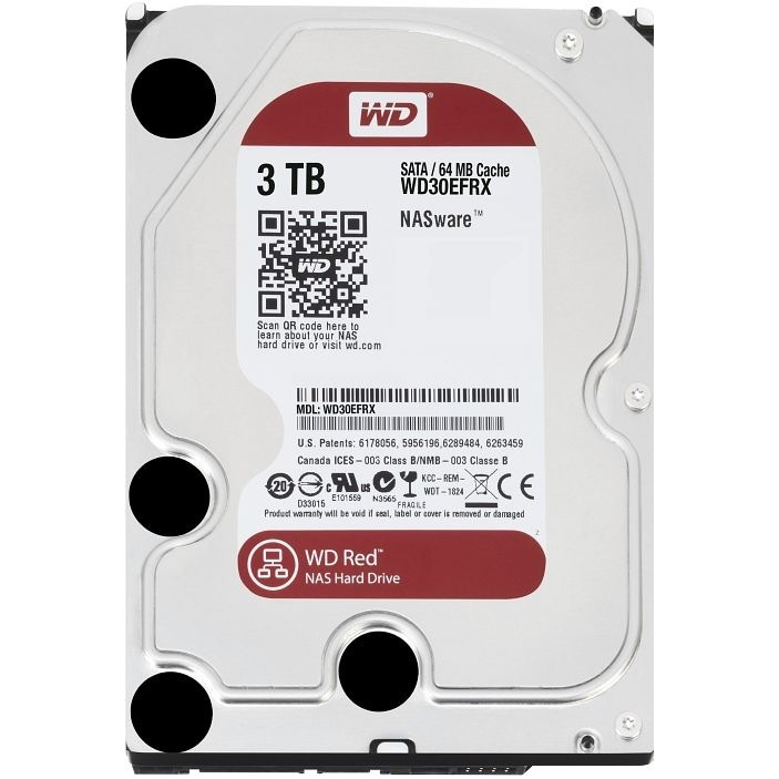 "HDD Western Digital Red 3.5"" 3TB WD30EFRX - NAS Drive"